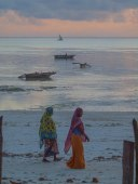 Zanzibar - Muslim women on the beach