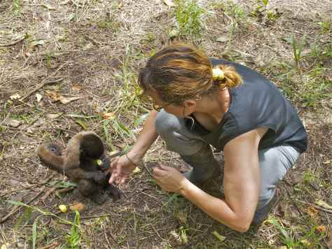 Puko with Marcelle - Volunteer in the Amazon Rainforest
