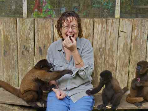 Amazon Rainforest food shared with Woolly Monkeys