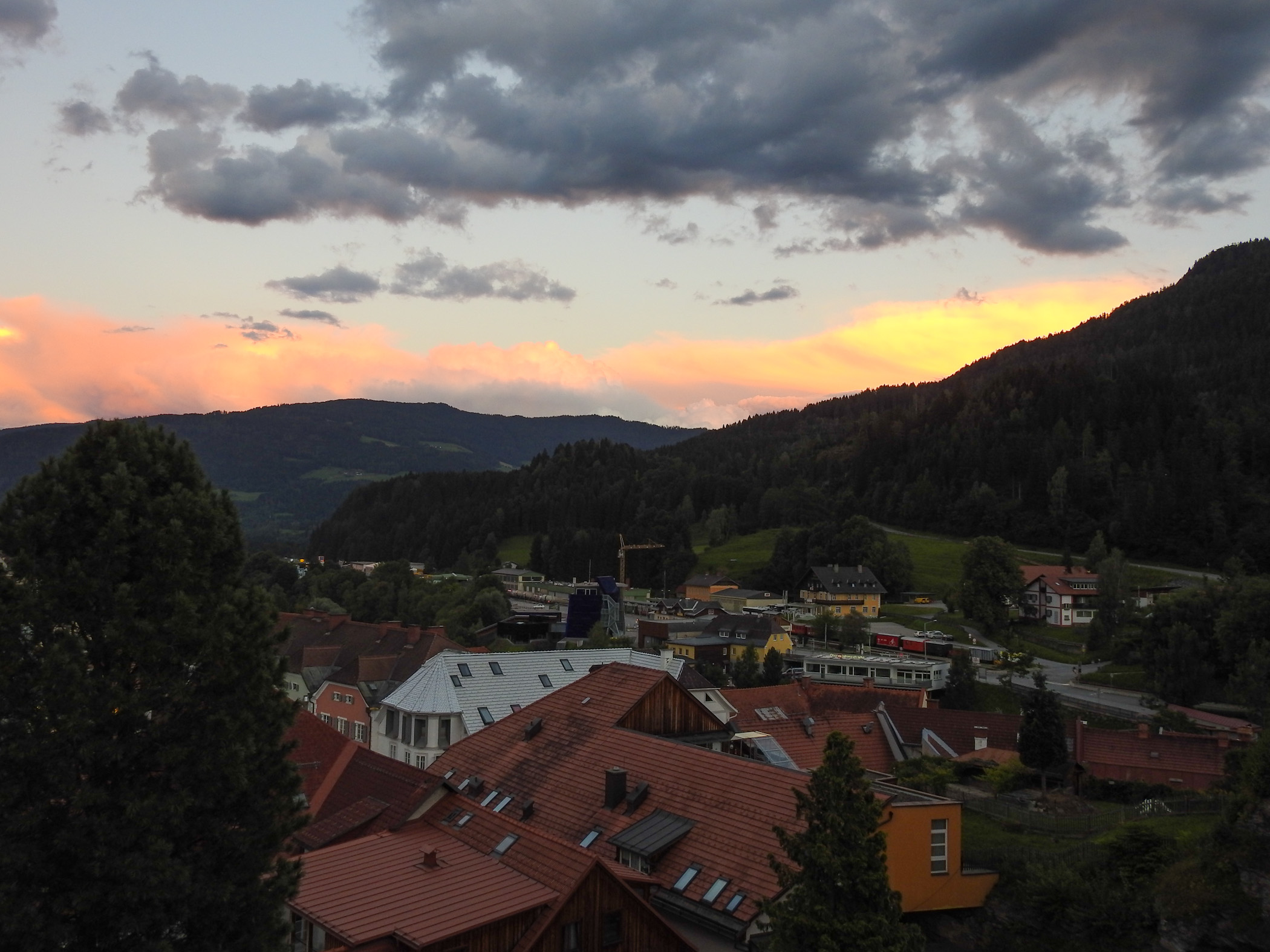 Sunrise over Murau