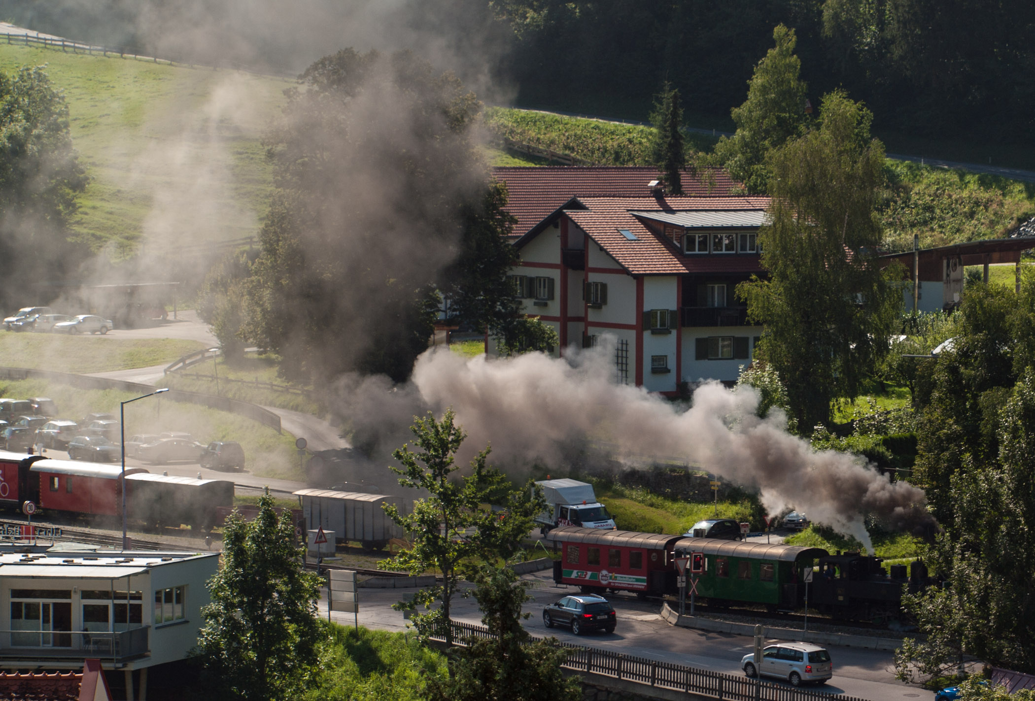 Steam Train in Murau