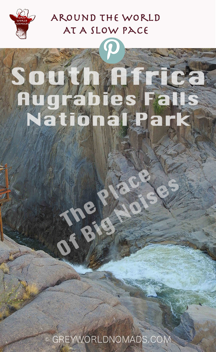 Augrabies Falls National Park lies in the Norhtern Cape Province of South Africa. The cascades of the Orange River make the world's sixth largest waterfall.